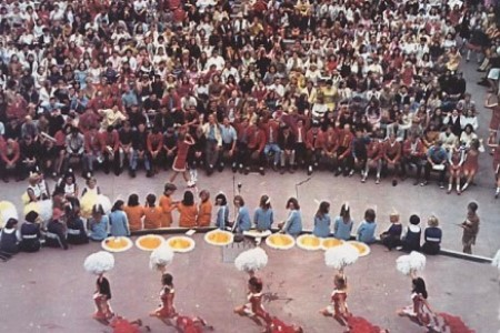 Rah-rah assembly in the amphitheater image